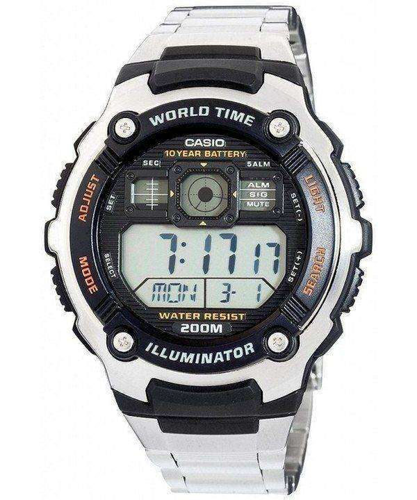 Casio Digital World Time AE-2000WD-1AVDF AE-2000WD-1AV Mens Sport Watch