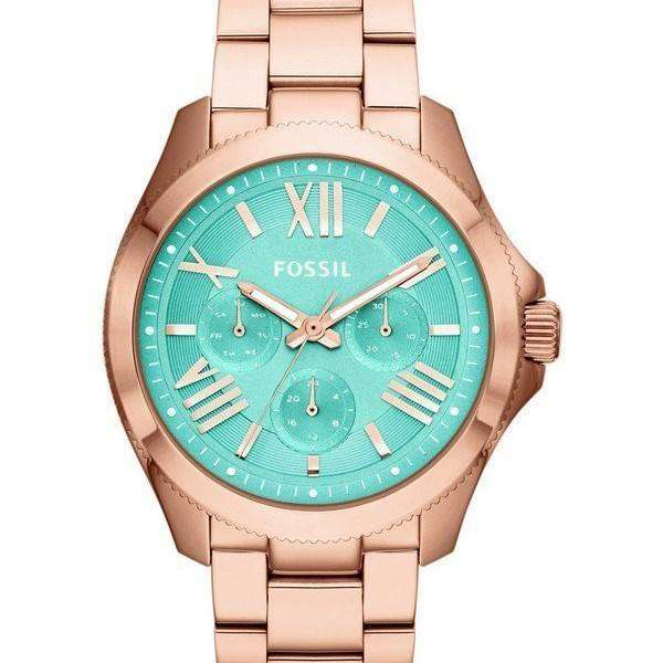 fossil cecile multifunction gold tone am4540 womens