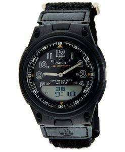 Casio Analog Digital Telememo Illuminator AW-80V-1BVDF AW-80V-1BV Mens Watch