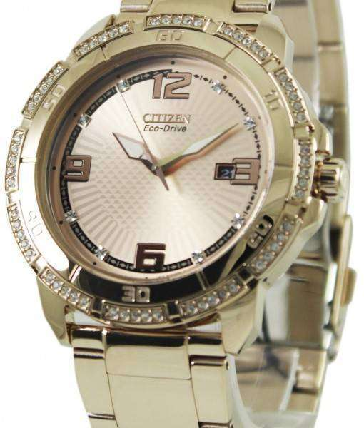 Citizen Eco-Drive Swarovski Crystal AW1343-54Q Mens Watch