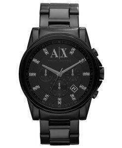 Armani Exchange Chronograph Crystals Black Dial AX2093 Mens Watch