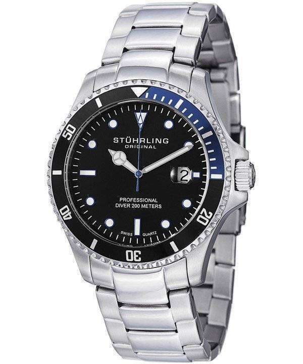Stuhrling Original Regatta Quartz Divers 200M 326B.331151 Mens Watch