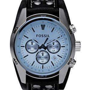 Fossil Coachman Chronograph Black Leather CH2564 Mens Watch