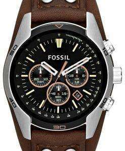 Fossil Coachman Chronograph Black Dial Brown Leather CH2891 Mens Watch