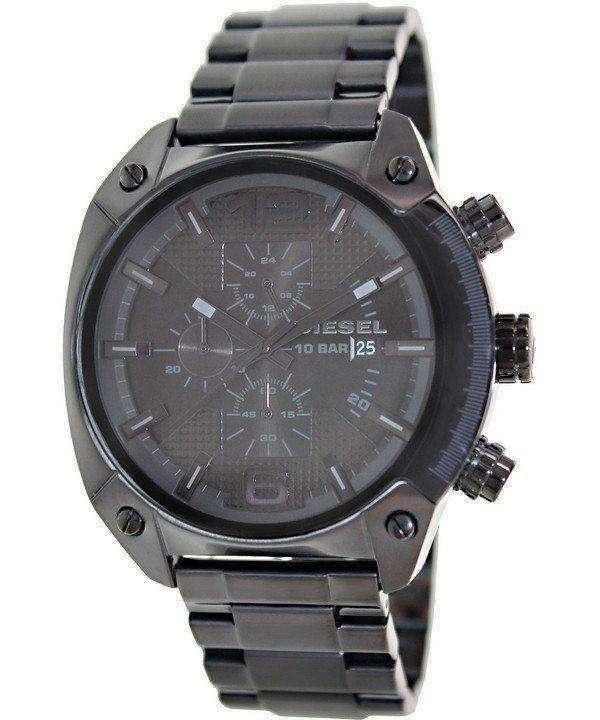 Diesel Advanced Chronograph Black Dial Ion Plated DZ4223 Mens Watch