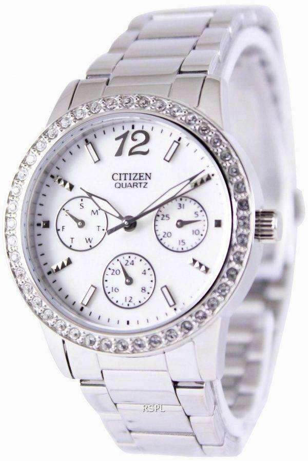 Citizen quartz swarovski crystals ed8090 53d womens watch canada for Swarovski crystals watch