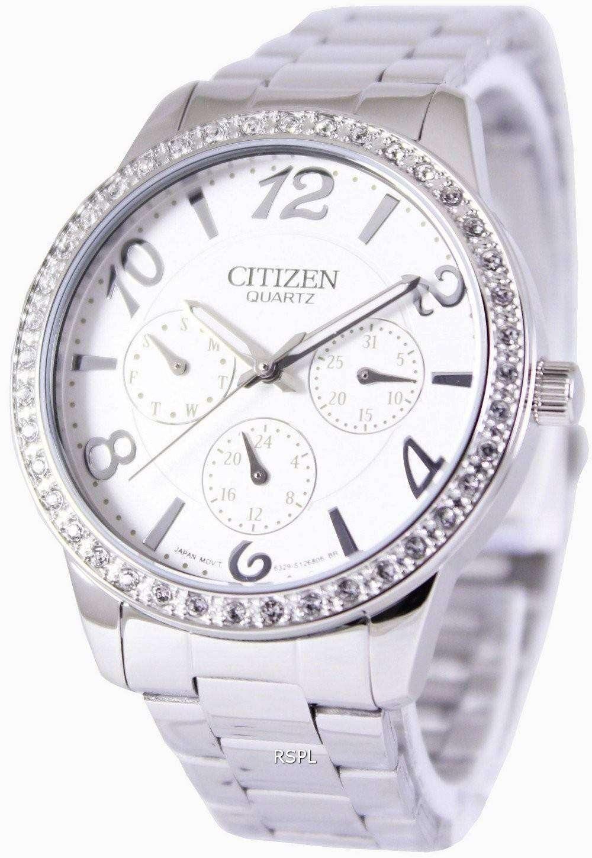citizen quartz swarovski crystals ed8120 54a womens