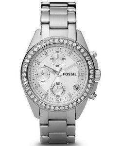 Fossil Decker Chronograph Crystals White Dial ES2681 Womens Watch