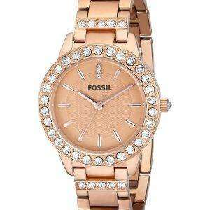 Fossil Jesse Crystal Rose Gold Tone ES3020 Womens Watch