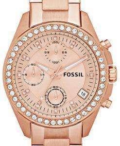 Fossil Decker Chronograph Crystal ES3352 Womens Watch