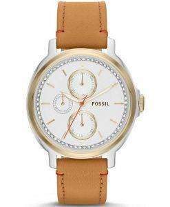 Fossil Chelsey Multifunction Tan Leather Strap ES3523 Womens Watch