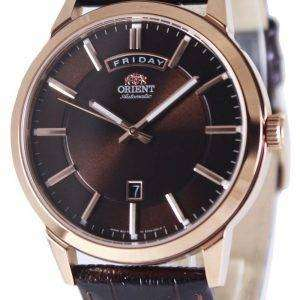 Orient Classic Automatic Brown Dial Leather Strap EV0U002T Men's Watch