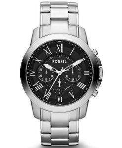 Fossil Grant Chronograph Black Dial FS4736 Mens Watch