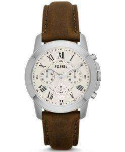 Fossil Grant Chronograph Brown Leather Strap FS4839 Mens Watch