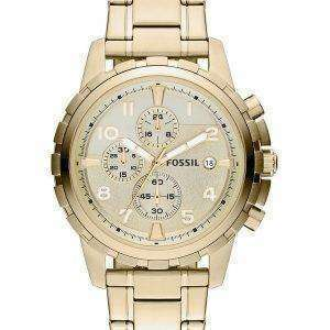 Fossil Dean Chronograph Gold Tone Stainless Steel FS4867 Mens Watch