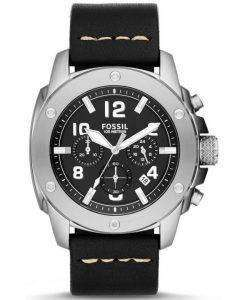 Fossil Modern Machine Chronograph Black Leather FS4928 Mens Watch