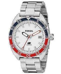 Fossil Quartz Breaker White Dial Stainless Steel FS5049 Mens Watch