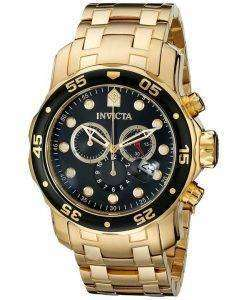 Invicta Pro-Diver Chronograph Gold Tone 200M INV0072/0072 Mens Watch