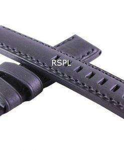 Black Ratio Brand Leather Strap 20mm For SKX007, SKX009, SKX011, SRP497, SRP641