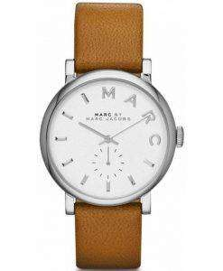 Marc By Marc Jacobs Baker White Dial Leather Band MBM1265 Womens Watch