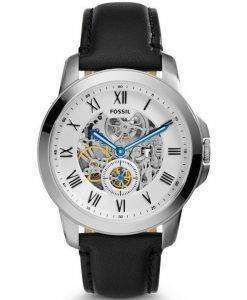 Fossil Automatic Grant Black Leather ME3053 Mens Watch