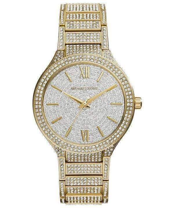 ef75237a9104 Michael Kors Kerry Crystal Pave Dial Gold Tone MK3360 Womens Watch