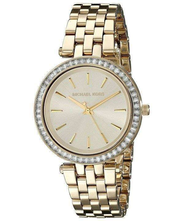 Michael Kors Mini Darci Crystals Gold Tone MK3365 Womens Watch