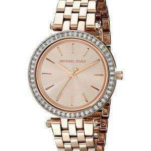 Michael Kors Mini Darci Crystals Rose Gold Tone MK3366 Womens Watch