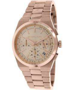 Michael Kors Channing Chronograph Rose Gold Dial MK5927 Womens Watch