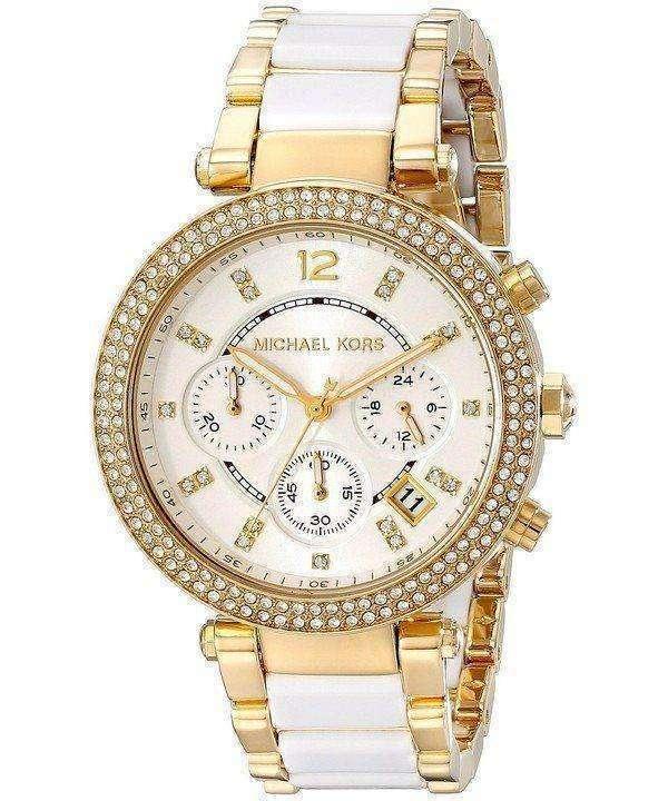 Michael Kors Parker Multi-function White Dial MK6119 Womens Watch