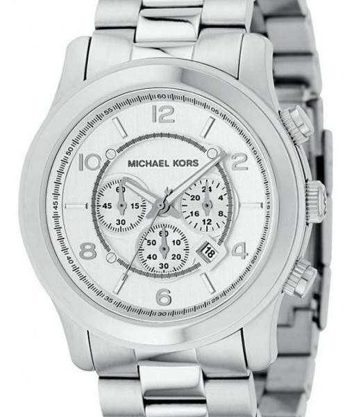 Michael Kors Silver Runway MK8086 Mens Watch| Sleek soulfulness at an economical price