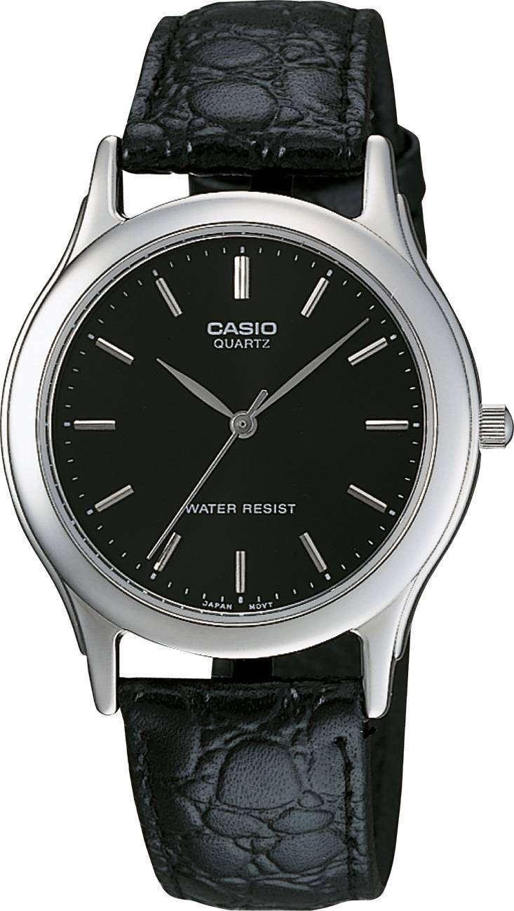 la moitié 23688 33f5a Montre analogique Casio Quartz cuir noir PSG-1093E-1ARDF PSG ...