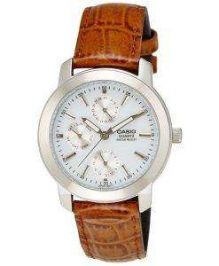 Casio Enticer Quartz Multi Dial Leather Strap MTP-1192E-7ADF MTP-1192E-7A Mens Watch