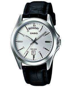 Casio Analog Silver Dial MTP-1370L-7AVDF MTP-1370L-7AV Mens Watch