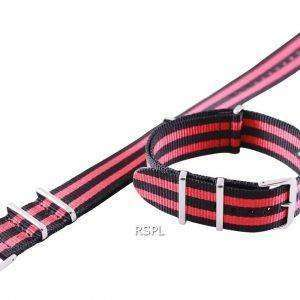 Red And Black Nato Strap 22mm For SKX007, SKX009, SKX011, SRP497, SRP641