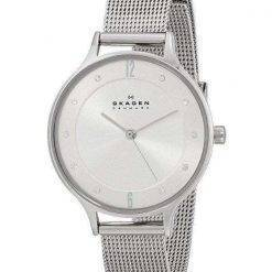 Skagen Gitte Silver Dial Crystals Stainless Steel SKW2140 Womens Watch