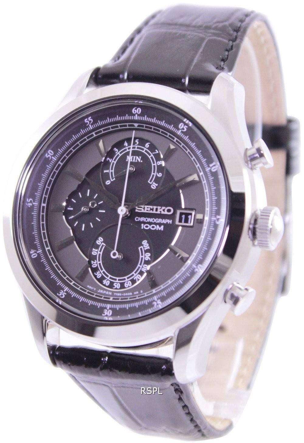 seiko quartz chronograph 100m spc167p2 mens watch