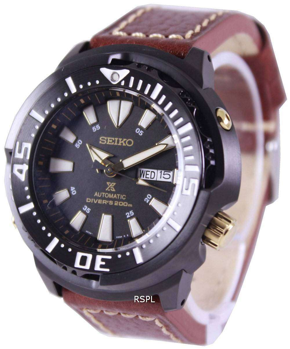 Seiko Prospex Baby Tuna Automatic Divers 200M Leather Strap ... a03b4d626