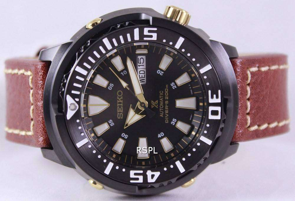 Seiko Prospex Baby Tuna Automatic Divers 200M Leather Strap SRP641K1-LS1  Mens Watch 3684d1df3