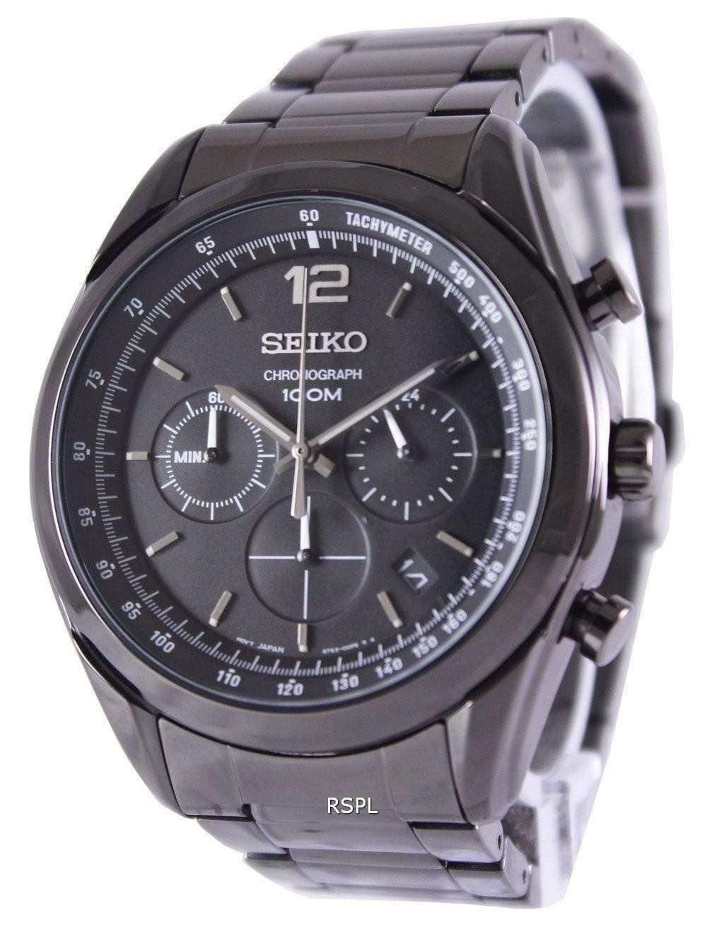 Seiko Chronograph Quartz 100M SSB093P1 SSB093P Mens Watch