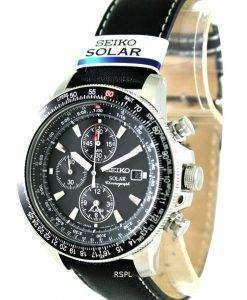 Seiko Pilots Solar Chronograph Flightmaster SSC009P3 Mens Watch