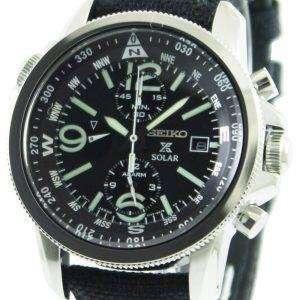 Seiko Prospex Solar Military Alarm Chronograph SSC293P2 Mens Watch