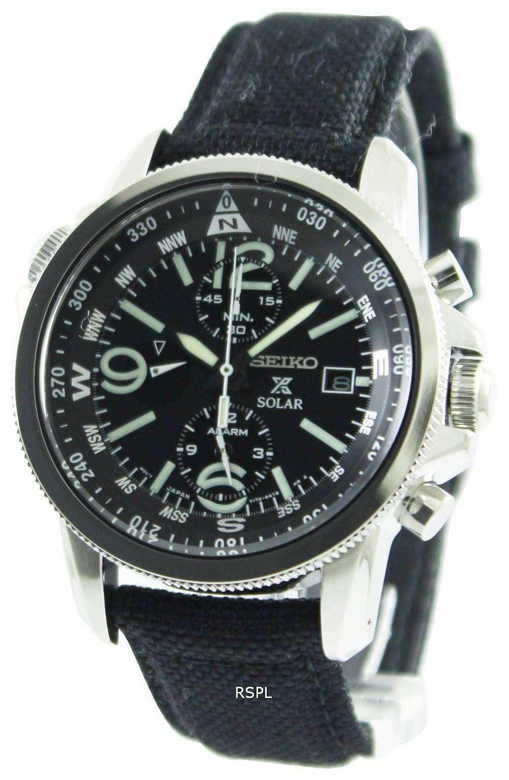 Seiko Prospex Solar Military Alarm Chronograph Ssc293p2