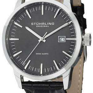 Stuhrling Original Classic Ascot 42 Swiss Quartz Date Display 555A.02 Mens Watch