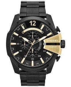 Diesel Mega Chief Quartz Chronograph Black Dial Black IP DZ4338 Mens Watch