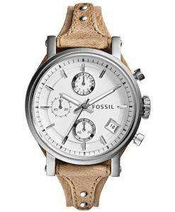 Fossil Original Boyfriend Chronograph White Dial ES3625 Womens Watch