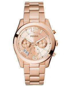 Fossil Perfect Boyfriend Multifunction Rose-Tone Stainless Steel ES3885 Womens Watch