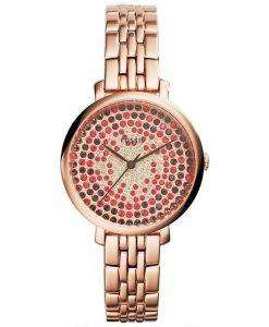 Fossil Jacqueline Rose Gold-Plated Crystals Pave Dial ES3900 Womens Watch