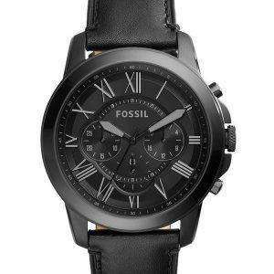Fossil Grant Chronograph Black Leather FS5132 Mens Watch