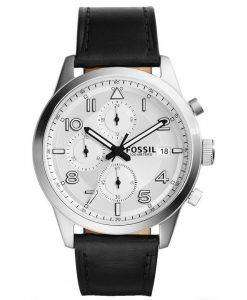 Fossil Daily Chronograph Black Leather FS5136 Mens Watch